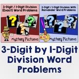 Introduce Long Division Word Problem Task Card, Divide 3-Digit By 1-Digit Number