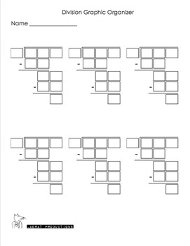 3-Digit by 1-Digit Long Division Riddles with a Graphic Organizer
