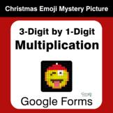3-Digit by 1-Digit Multiplication - Christmas EMOJI Myster