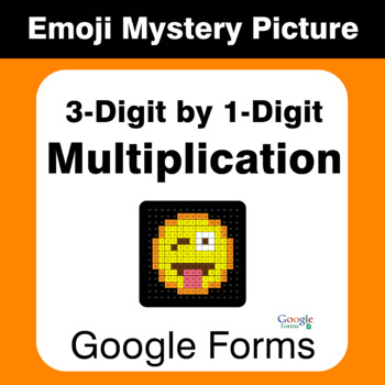 3-Digit by 1-Digit Multiplication - EMOJI Mystery Picture - Google Forms