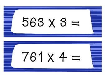 3-Digit by 1-Digit Multiplication Kaboom