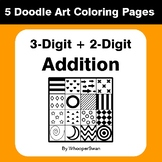 3-Digit by 2-Digit Addition - Coloring Pages | Doodle Art Math