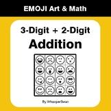 3-Digit by 2-Digit Addition - Emoji Math & Art - Draw by N