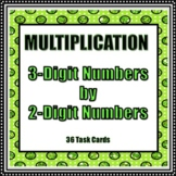 3 Digit by 2 Digit Multiplication - 36 Task Cards!