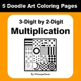 3-Digit by 2-Digit Multiplication - Coloring Pages | Doodle Art Math