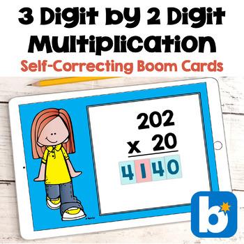 3 Digit by 2 Digit Multiplication BOOM Cards