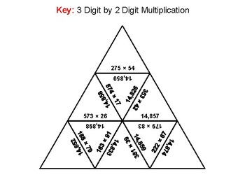 3 Digit by 2 Digit Multiplication Game: Math Tarsia Puzzle