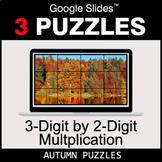 3-Digit by 2-Digit Multiplication - Google Slides - Autumn