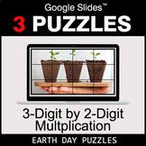 3-Digit by 2-Digit Multiplication - Google Slides - Earth