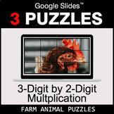 3-Digit by 2-Digit Multiplication - Google Slides - Farm A