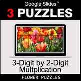 3-Digit by 2-Digit Multiplication - Google Slides - Flower