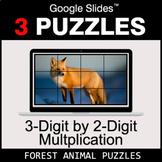 3-Digit by 2-Digit Multiplication - Google Slides - Forest
