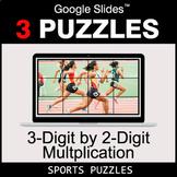 3-Digit by 2-Digit Multiplication - Google Slides - Sports