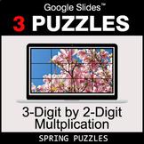 3-Digit by 2-Digit Multiplication - Google Slides - Spring