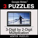 3-Digit by 2-Digit Multiplication - Google Slides - Winter