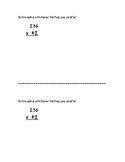 3-Digit by 2-Digit Multiplication (Half-Sheet)