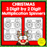 3 Digit by 2 Digit Multiplication Spinners   Christmas The
