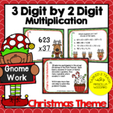 3 Digit by 2 Digit Multiplication Task Cards Christmas Theme