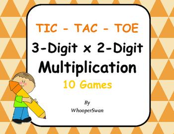 3-Digit by 2-Digit Multiplication Tic-Tac-Toe