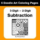 3-Digit by 2-Digit Subtraction - Coloring Pages | Doodle Art Math