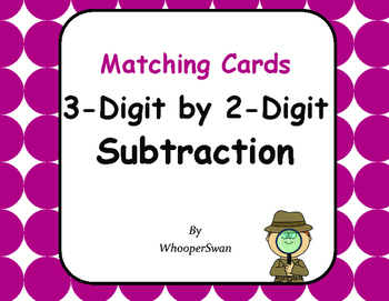 3-Digit by 2-Digit Subtraction Matching Cards