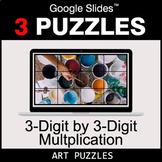 3-Digit by 3-Digit Multiplication - Google Slides - Art Puzzles