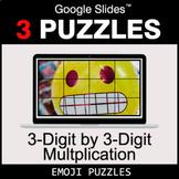 3-Digit by 3-Digit Multiplication - Google Slides - Emoji Puzzles