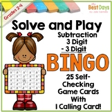 3 Digit by 3 Digit Subtraction with Regrouping Bingo