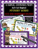 3 INTERACTIVE Digital Task Card Centers: MYSTERY WORDS to