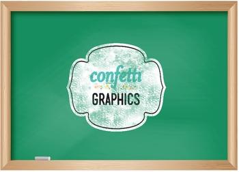 3 Digital Chalkboards Black Green School Teacher Blackboard Clip Art Graphics