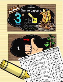 3 INTERACTIVE Digital Task Card Centers: BEGINNING DIGRAPHS SH, TH, CH