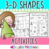 3 Dimensional (3-D) Shape Printables (5 Activities for Each 3-D Shape)