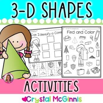 3 Dimensional (3-D) Shape Quick Printables