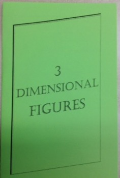 3 Dimensional Figures Foldable