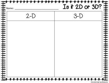 3 Dimensional Figures- A Math Unit for Kindergarten TEKS Based