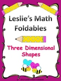 3 Dimensional Figures Math Foldable