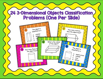3 Dimensional Objects - Digital Task Cards Google Version