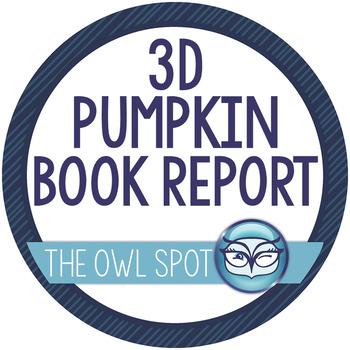 3 Dimensional Pumpkin Book Reports