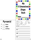 3-Dimensional Shape Book - Common Core Aligned