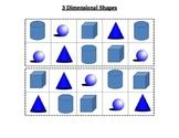 3 Dimensional Shape Focus Board