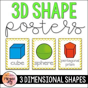 3D Shape Cards