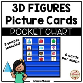 Pocket Chart Center - 3D Figures Picture Cards Sort