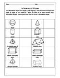 3-Dimensional Shapes Activity Pack  Worksheets