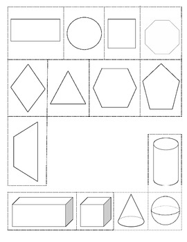 3 Dimensional Shapes Book with Cut Outs