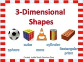 3 Dimensional Shapes Math Sort Center Activities