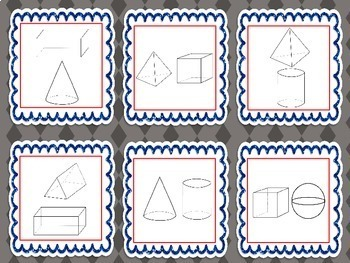 3 Dimensional Shapes Memory Game - Geometry