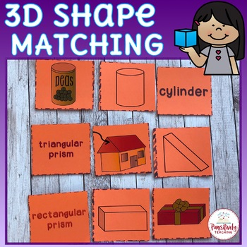 Geometry Activity 3D Shapes Matching Game