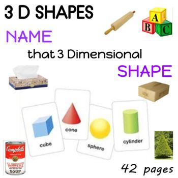 3 Dimensional Shapes Presentation  Prek - 1st Grade