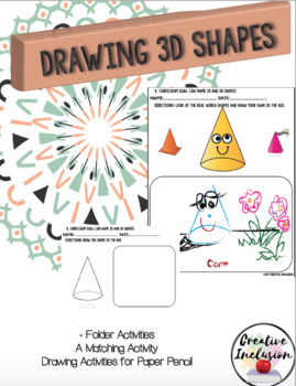 3 Dimensional Shapes Printable Activities and Drawing