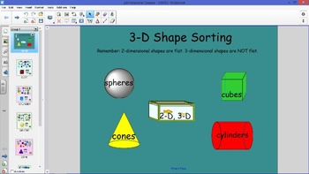 3-Dimensional Shapes Sorting